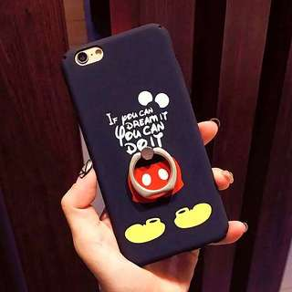 [PO] iPhone 6/6S/7/PLUS Disney Mickey Mouse Phone Case With Iring (All sides protected)