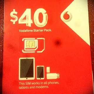 Vodafone $40 Starter Pack SIM Card