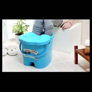 Foot Spa Bucket With Massager (green)