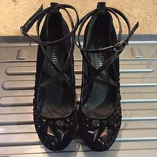 Mollini Black Sequined Heels