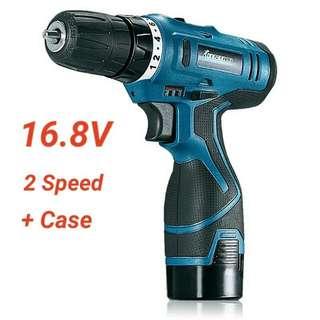 Cordless Compact Electric Hand Drill / Screwdriver 16.8V Lithium Li-ion Small Portable Screw Driver Mini Power Tool