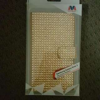 Samsung Galaxy Note 3 Gold Diamante Case