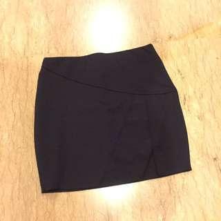 Zara Navy Slit Skirt (stretchy)