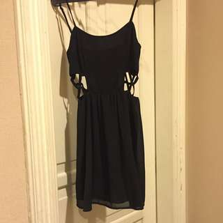 Forever21 Black Dress With Cutouts On The Side