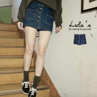 Lulus牛仔褲裙