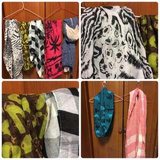 圍巾任選2條100