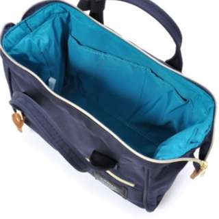 Inside look of an authentic Anello 2 way small Boston bag, polyester