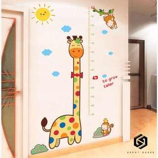 【免運費】#362兒童房牆壁寶寶裝飾牆紙貼畫牆貼自粘客廳臥室測量身高貼紙可移除