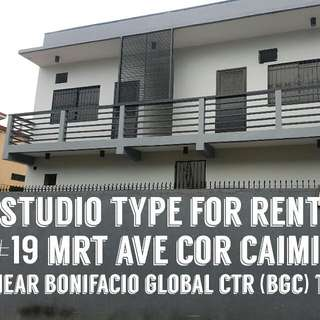 For Rent Studio Type Apartment