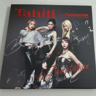 Tahiti - Fall Into Temptation (Autographed By All Members)