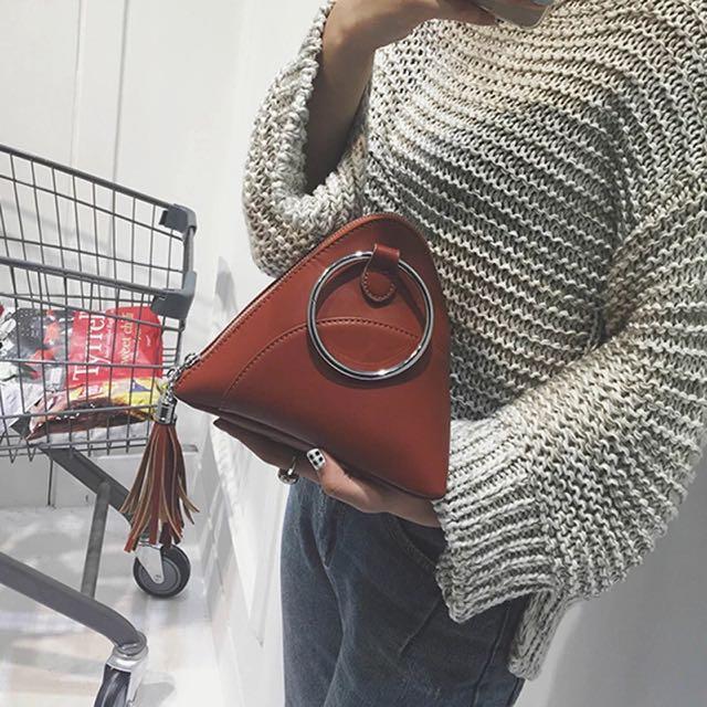 韓國迷你三角手提包