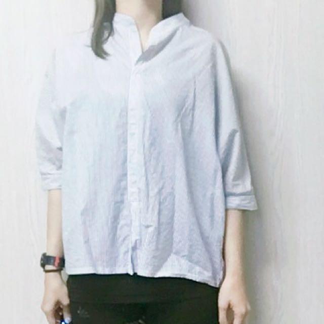 開襟條紋襯衫(韓國帶回)
