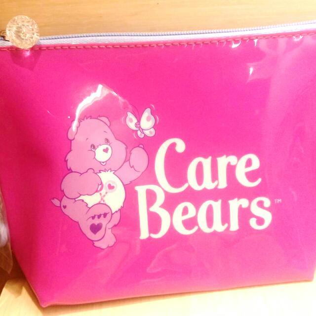 桃紅色 化妝包 全新 Care Bear
