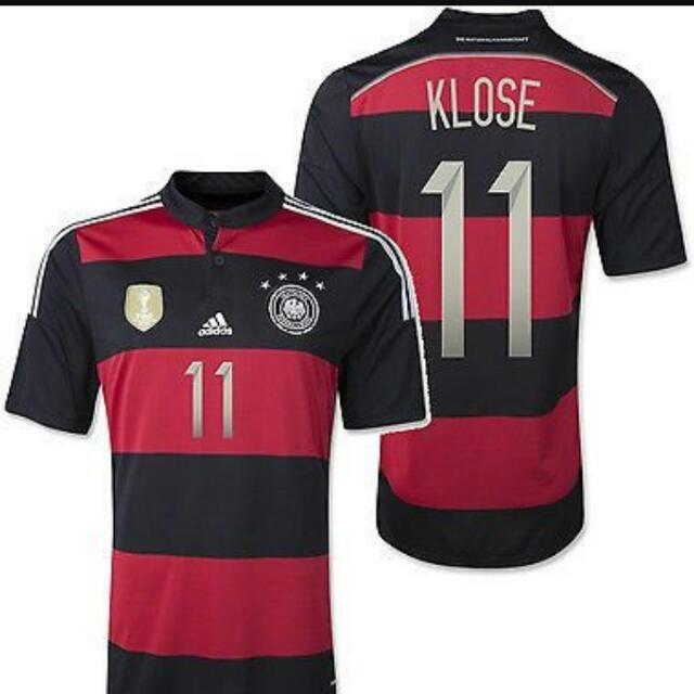 20cacef6b09 Adidas Miroslav Klose  11 Germany 2014 World Cup Champions Patch 4 ...