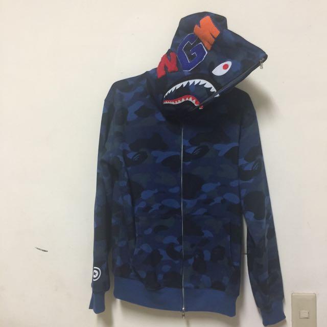 Bape 藍鯊外套