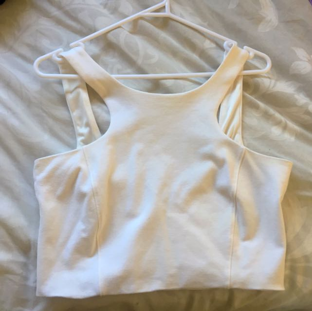 Bardot White Top With Low Back!