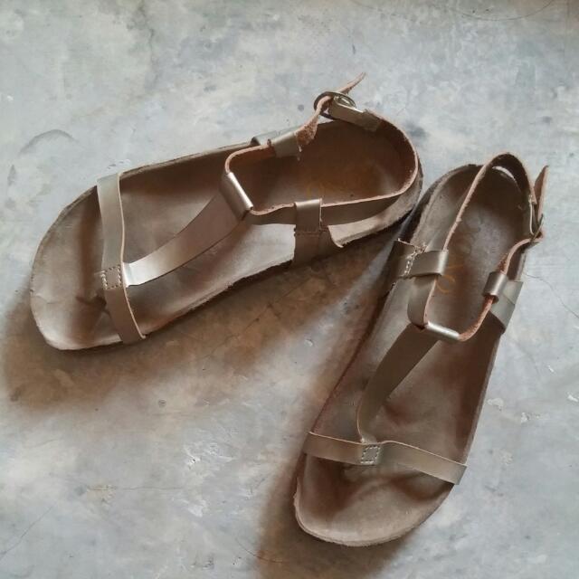 Brown Gold Sandals