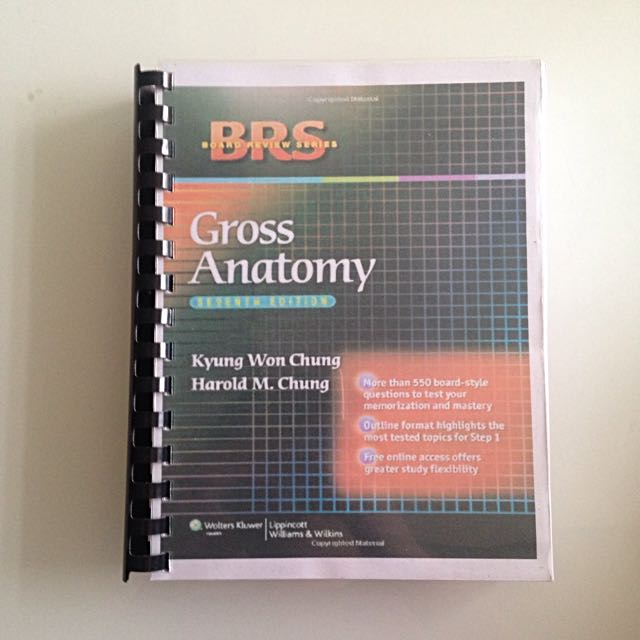 BRS Anatomy 7th Ed Book-alike