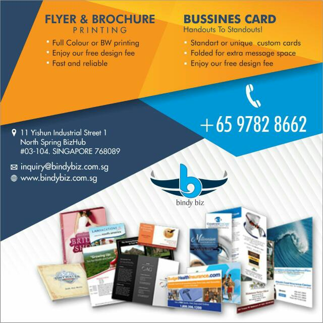 Business Card Fliers Brochure Printing Service Everything Else On