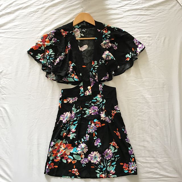 Butterfly Sleeve Summer Dress