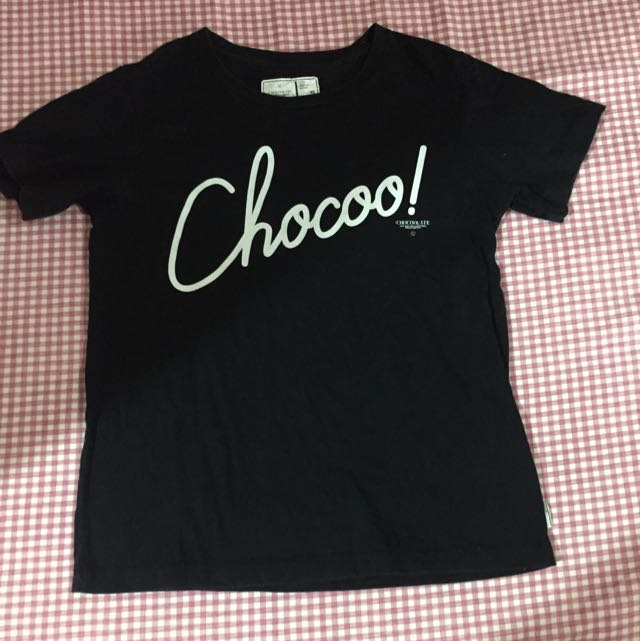 CHOCOOLATE黑色T恤