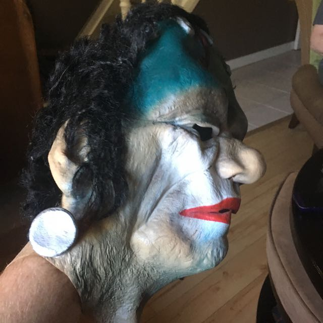 Clown Frankenstein Halloween Mask Small