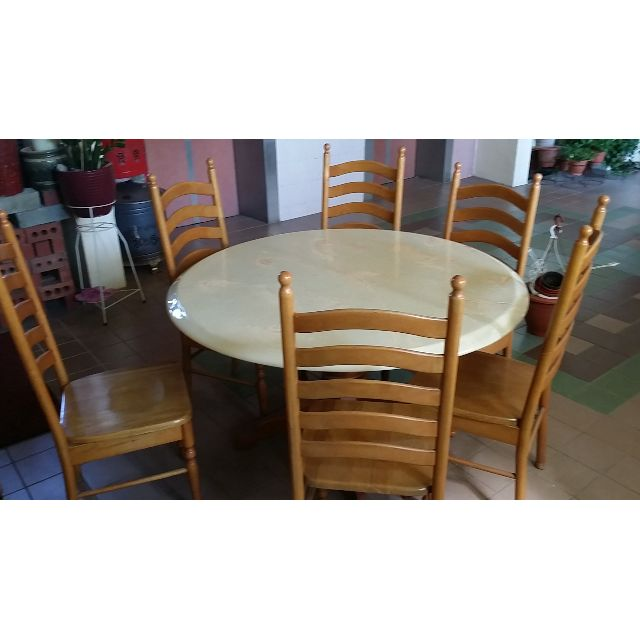 Terrific Round Dining Table With 5 Chairs 53 5 Inches 136Cm Diameter Download Free Architecture Designs Scobabritishbridgeorg