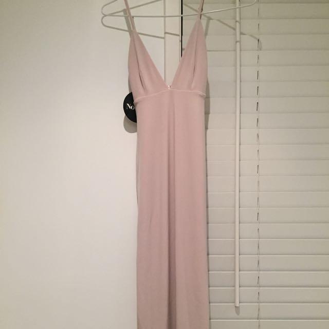 Dusty Pink Nookie Slip Dress