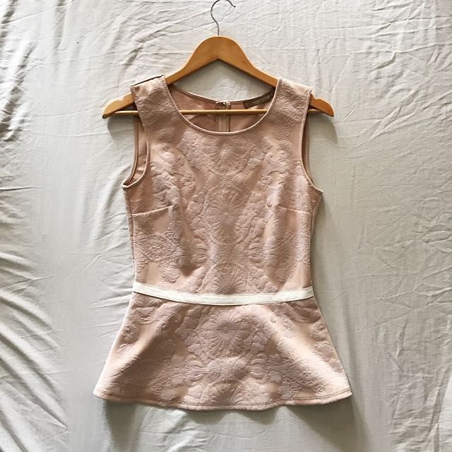 Dusty Pink Peplum
