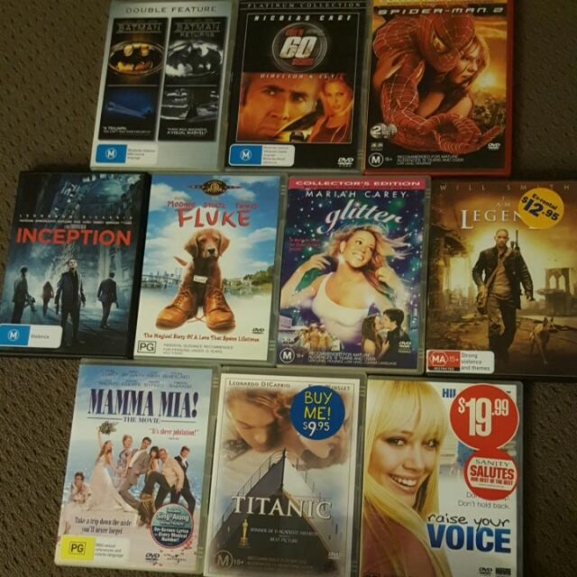 Dvd's $40 For All 10 Or $5each.