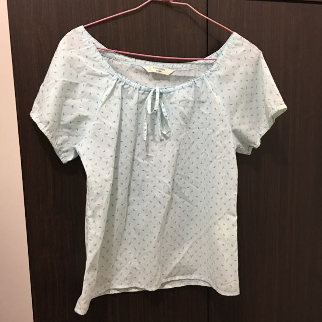 E-Collection E-Wear 淡藍色小花上衣