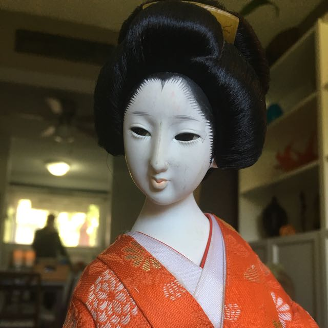 Geisha Doll Stand - 19 Inches High