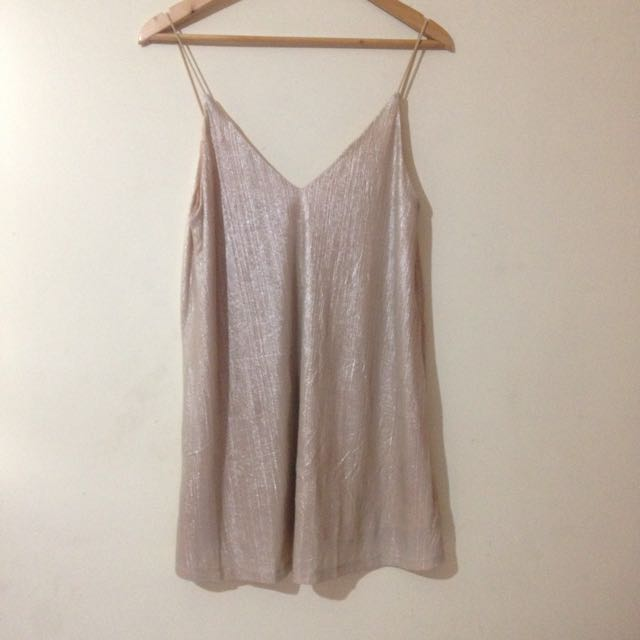 (ON HOLD) Gold Slip Dress