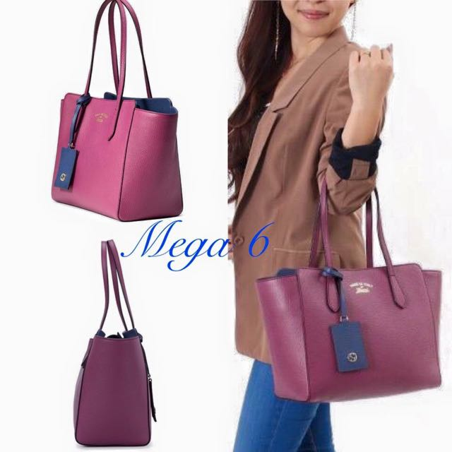849af2af2ac GUCCI Swing Small Leather Tote