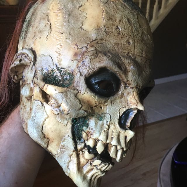 Halloween Mask - Skull Head With Hair
