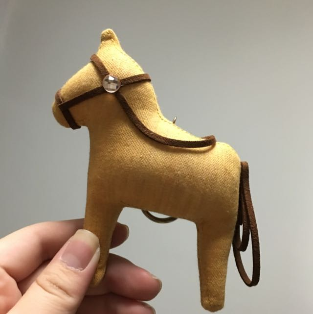 Horse Keychain With Crystal From Korea