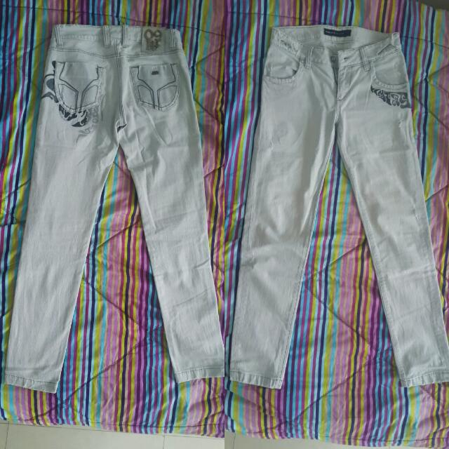 Light Grey Jeans Denim