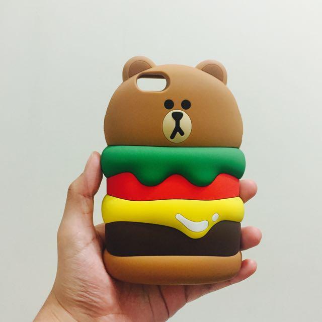 LINE 熊大 漢堡 軟殼 iPhone 6s