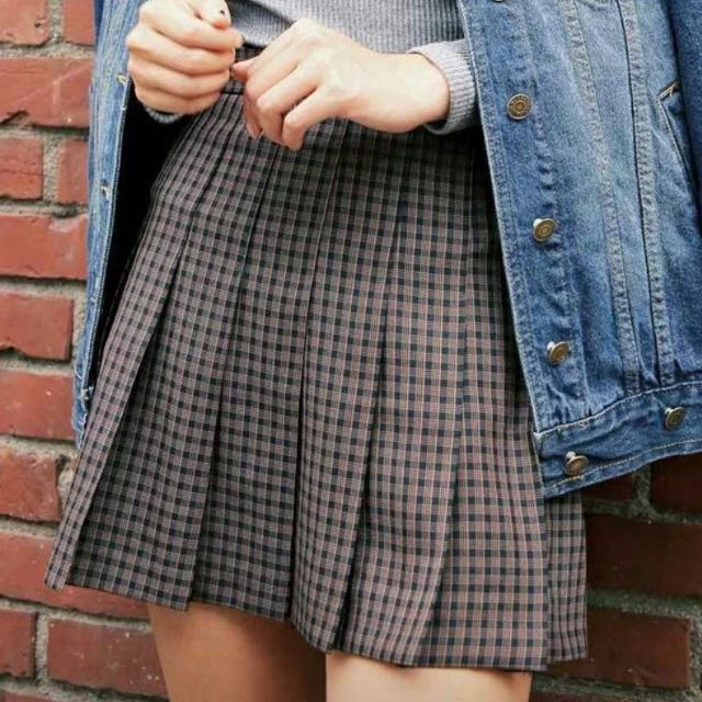 韓國代購MERONGSHOP配色格紋褲裙