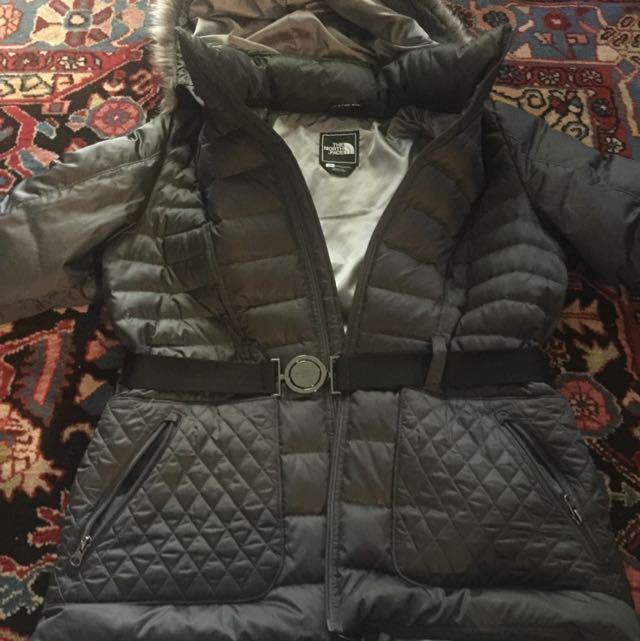 North Face Grey/Sliver Winter Jacket