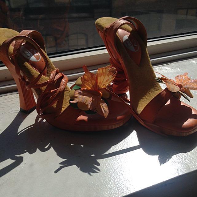 Orange B2 Heels