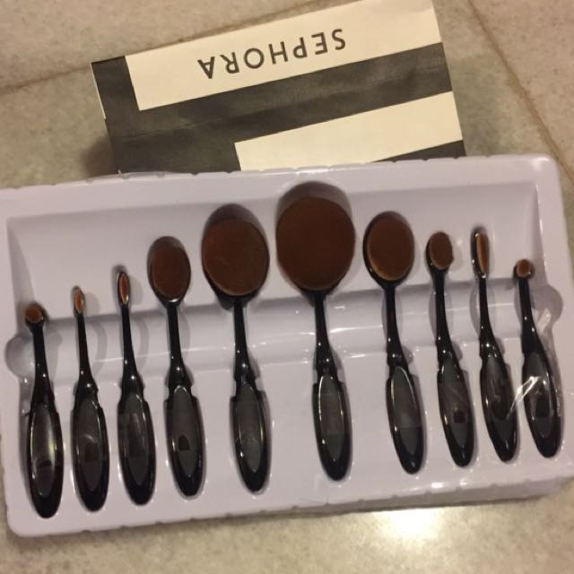 Oval Brush set 10