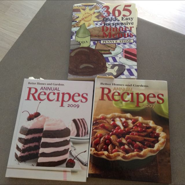 Previously loved and trusted cookbooks!