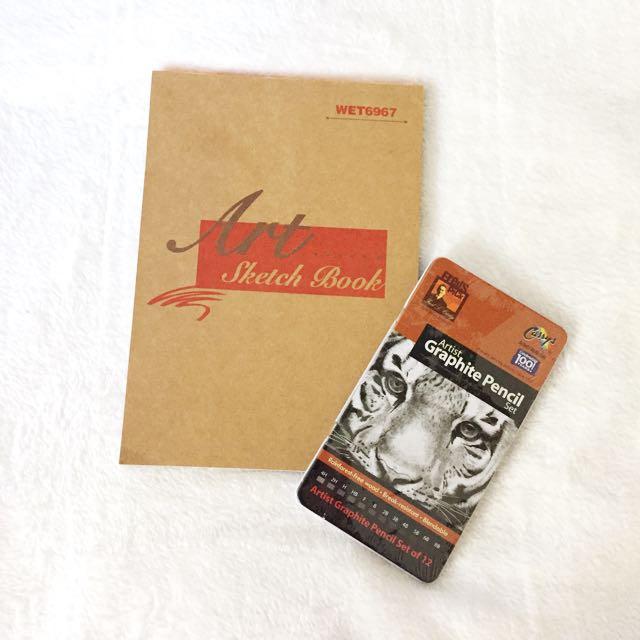 SKETCH BOOK + CURRYS PENCIL SET