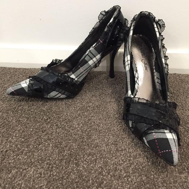 Tartan Heels Black/White