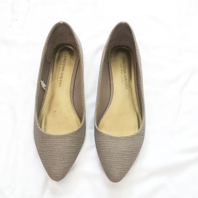 Taupe Pointed Flats