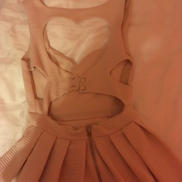 Top shop Soft Pink Heart Cut-Out Back Dress