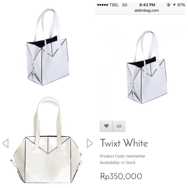 Twixt White by Aiden Bag