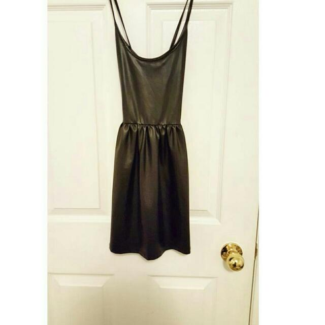 UO Faux Leather Dress