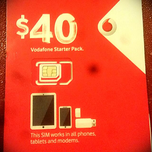 Vodafone $40 Starter Pack SIM Card